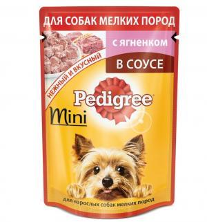 Корм влажный  для взрослых собак мелких пород, ягненок, 85г Pedigree