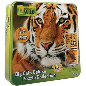 Пазл 3 в одном гепард, тигр и лев Uncle Milton