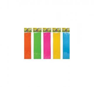 Бумага цветная флуоресцентная  крепир. 5 цв. 50х250 см ассорти Каляка-Маляка