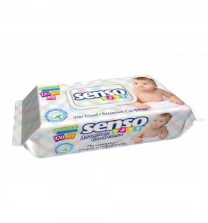 Влажные салфетки  с крем-бальзамом, 120 шт Senso Baby