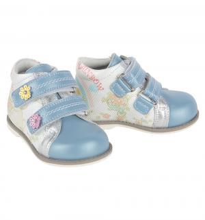 Ботинки , цвет: голубой/белый Elegami