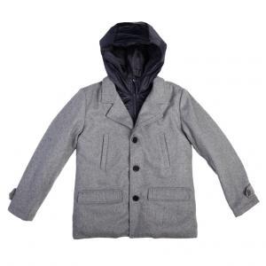 Пальто SCool Мотоклуб, цвет: серый/черный S'Cool