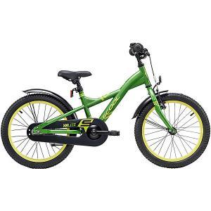 Двухколесный велосипед  XXlite 18 дюймов, зеленый Scool. Цвет: зеленый