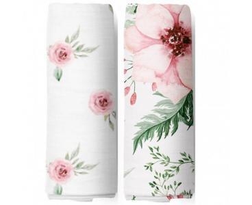 Пеленка  Набор муслиновых Watercolor Flowers 120x120 см 2 шт. Adam Stork