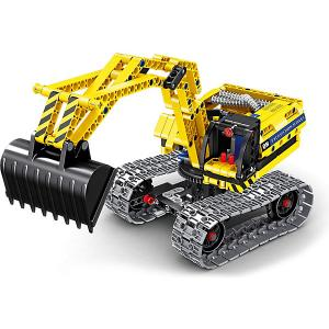 Конструктор 2 в 1  Tech Робот-Экскаватор Mioshi. Цвет: черный/желтый