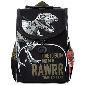 Рюкзак школьный с мешком , черный Grizzly