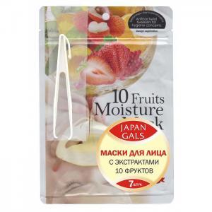 Маска с экстрактом 10 фруктов Pure5 Essential 7 шт. Japan Gals