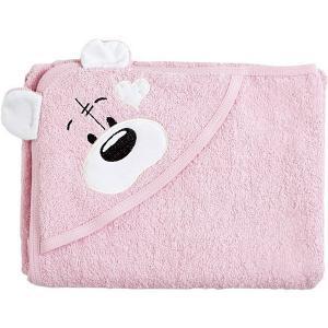 Полотенце с капюшоном Мишки Fun Dry, , розовый белыми ушками Twinklbaby