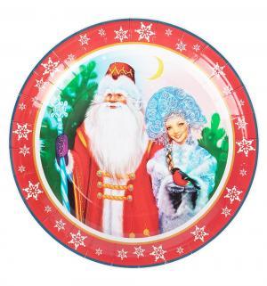 Набор одноразовой посуды  Дед Мороз и Снегурочка 6 шт 23 см Патибум