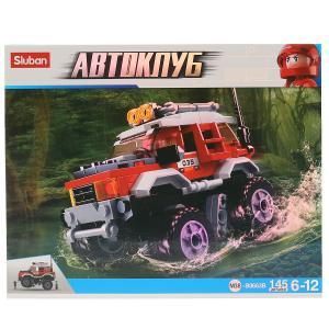 , Конструктор пластиковый Машина с фигуркой, 145дет. Sluban