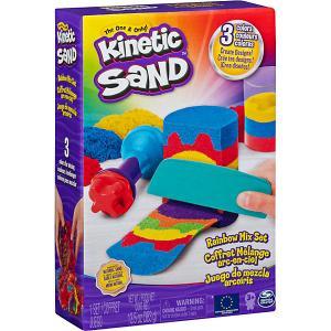 Набор для лепки  Радуга Kinetic sand. Цвет: разноцветный