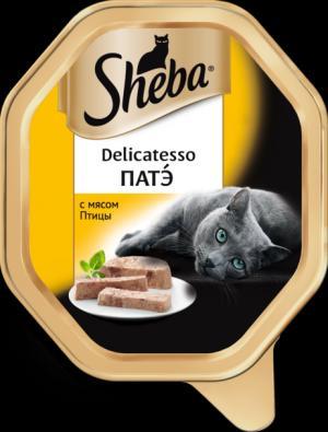 Влажный корм  Delicatesso для взрослых кошек, патэ с мясом птицы, 85г Sheba
