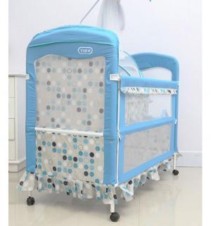 Кроватка-трансформер  Lovely Bear, цвет: бежевый/голубй Tizo