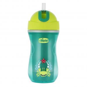 Чашка-поильник  Sport Cup с трубочкой, 14 месяцев, цвет: красный/зеленый Chicco