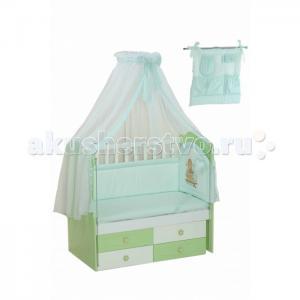 Комплект в кроватку  для новорожденного 17 (8 предметов) Селена (Сдобина)