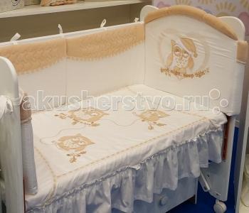 Комплект в кроватку  Совята (7 предметов) Селена (Сдобина)