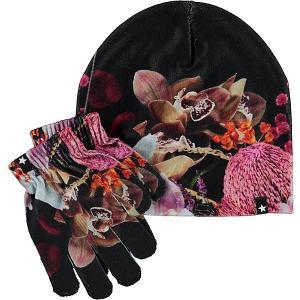 Комплект : шапка и перчатки Molo. Цвет: розовый