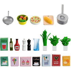 Аксессуары для домика  Набор кухонных аксессуаров, 21 предмет Lundby. Цвет: разноцветный