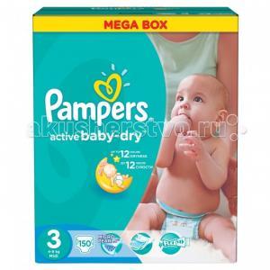 Подгузники Active Baby Dry Midi р.3 (6-10 кг) 152 шт. Pampers