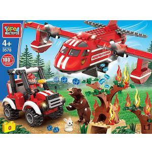 Конструктор  пожарный самолет, с фигурками, 280 дет. Город мастеров. Цвет: разноцветный