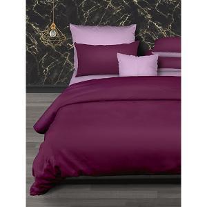 Комплект постельного белья  Lanvin Active, евро Романтика. Цвет: бордовый