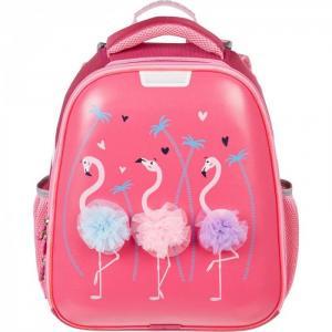 Ранец Basic Flamingo (светящийся кант) №1 School