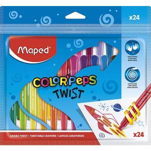 Восковые мелки  ColorPeps Twist, 24 цвета Maped