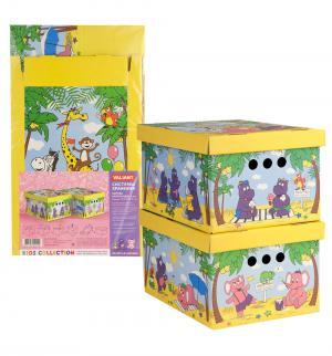 Короб картонный складной малый Веселая Африка Valiant