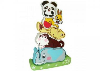Деревянная игрушка  Пирамидка Слоник QiQu Wooden Toy Factory