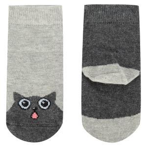 Носки  Коты, цвет: серый Mark Formelle