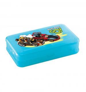 Коробка для мелочей с декором Angry birds, цвет: синий Бытпласт