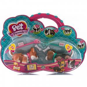 Фигурки собачек в комплекте с косточками и поводком, Pet Club Parade Giochi Preziosi