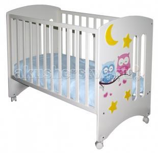 Детская кроватка  Laluca Софи Совята без ящика Можгинский лесокомбинат