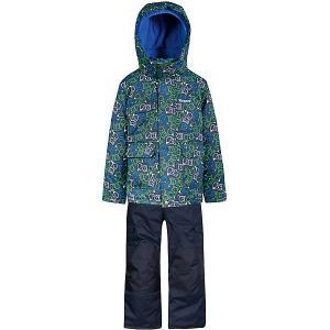 Комплект  by Gusti: куртка, полукомбинезон Zingaro. Цвет: синий/зеленый