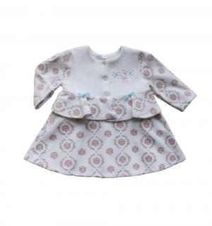 Платье , цвет: белый/розовый Soni Kids