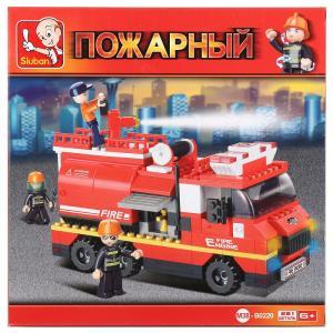 , Конструктор пластиковый Пожарная машина с фигурками и аксесс., 281дет. Sluban