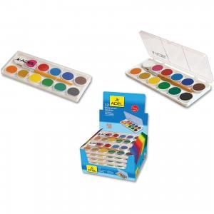 Акварельные краски в пластиковой коробке, 12 цветов. ADEL