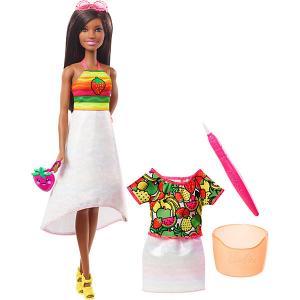 Набор с куклой Barbie x Crayola Фруктовый сюрприз, брюнетка Mattel