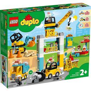 Конструктор  DUPLO Town 10933: Башенный кран на стройке LEGO