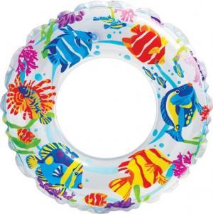 Надувной круг  Рифы океана, белый, 61 см Intex