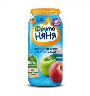 Пюре  в баночке яблоко-персик с 6 месяцев, 250 г, 1 шт ФрутоНяня