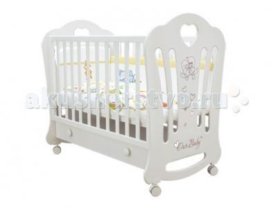 Детская кроватка  Laluca Шарлотта Птички с ящиком Можгинский лесокомбинат