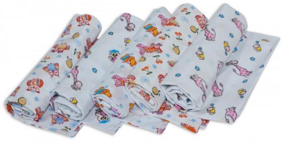 Пеленка  для новорожденных ситцевая Ассорти 5 шт. Чудо-чадо