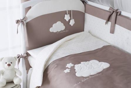 Комплект в кроватку  Бамбино из сатина (6 предметов) Perina