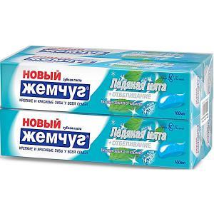 Зубная паста Новый Жемчуг Ледяная мята + отбеливание, 100 мл, 4 шт Невская косметика