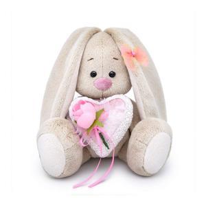 Мягкая игрушка  Малыши Зайка Ми с сердцем из бархата 15 см Budi Basa