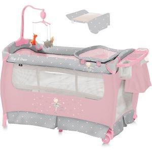 Манеж  SleepNDream, серо-розовый Lorelli. Цвет: rosa/grau