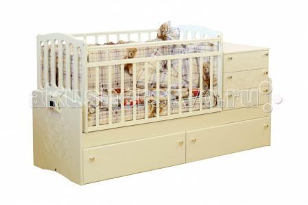 Кроватка-трансформер  Укачай-ка 03 поперечный маятник Daka Baby