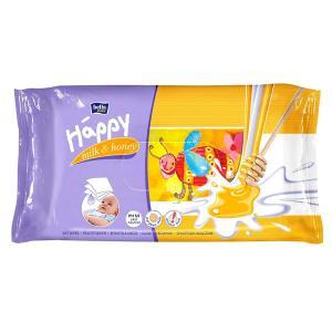 Салфетки  «Baby Happy» влажные Молоко и мед, 64 шт Bella