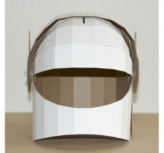 Игрушка из картона  Шлем космонавта Картонный папа